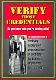 Verify Those Credentials!, Michael Sankey, 1889150002