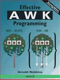 Effective AWK Programming : A User's Guide, Robbins, Arnold, 1578310008