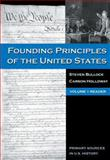 The Founding Principles of the United States, Bullock, Steven and Holloway, Carson, 0495030015