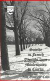 Suicide in French Thought from Montesquieu to Cioran 9780820440033