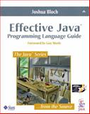 Effective Java Programming Language, Bloch, Joshua, 0201310058