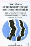 Directions in Technical Writing and Communication, , 0895030063