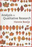 Analysis in Qualitative Research, Boeije, Hennie, 1847870074