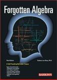 Forgotten Algebra, Barbara Lee Bleau, 0764120085