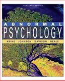 Abnormal Psychology, Kring, Ann M. and Davison, Gerald C., 047038008X