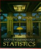 Modern Elementary Statistics, Simon and Schuster Staff, 0132070103