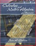 Calculus and Matrix Algebra for Business 9780757500107