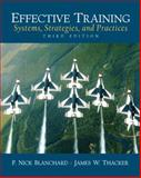 Effective Training, James W. Thacker and P. Nick  Blanchard, 0131860119