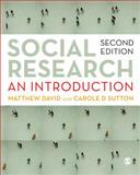 Social Research : An Introduction, Sutton, Carole and David, Matthew, 1847870139
