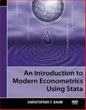 An Introduction to Modern Econometrics Using Stata, Baum, Christopher F., 1597180130