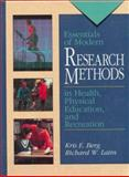 Essentials of Modern Research Methods, Berg, Kris and Latin, Richard, 0136440142
