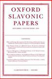 Oxford Slavonic Papers 2000 Vol. XXXIII, , 019816016X
