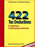 422 Tax Deductions for Businesses and Self-Employed Individuals, Bernard B. Kamoroff, 0917510178