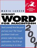 Word 2001 for Macintosh 9780201730180