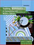 Teaching Mathematics in Secondary and Middle School : An Interactive Approach, Cangelosi, James S., 0130950181
