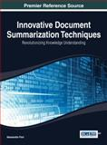 Innovative Document Summarization Techniques, Fiori, 1466650192