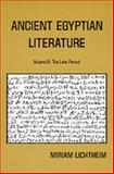 Ancient Egyptian Literature Vol. 3 : A Book of Readings: The Late Period, Lichtheim, Miriam, 0520040201