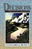 Decisions : A Writer's Handbook, Rosen, Leonard J., 0205200206