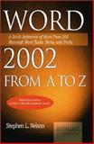 Word 2002 from A to Z, Stephen L. Nelson, 1931150214