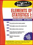 Elements of Statistics I : Descriptive Statistics and Probability, Bernstein, Stephen and Bernstein, Ruth, 0070050236