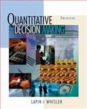 Quantitative Decision Making with Spreadsheet Applications, Lapin, Lawrence L. and Whisler, William D., 0534380247