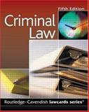 Criminal Lawcards, Cavendish Publishing Staff, 1845680243