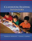 Classroom Reading Inventory, Wheelock, Warren and Silvaroli, Nicholas, 0078110254