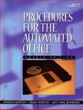 Procedures for the Automated Office, Burton, Sharon and Shelton, Nelda, 0132610256