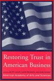 Restoring Trust in American Business, , 0262740273