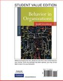 Behavior in Organizations, Student Value Edition, Greenberg and Greenberg, Jerald, 0136090273