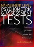 Management Level Psychometric & Assessment Tests, Andrea Shavick, 1845280288