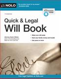 Quick and Legal Will Book, Denis Clifford, 1413320309
