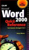 Microsoft Word 2000, Warner, Nancy, 0789720310
