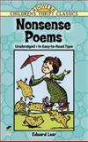 Nonsense Poems, Edward Lear, 0486280314