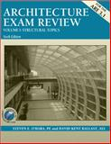 Architecture Exam Review Vol. I : Structural Topics, O'Hara, Steven E. and Ballast, David Kent, 1591260337