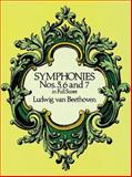 Symphonies Nos. 5, 6 and 7 in Full Score, Ludwig van Beethoven, 0486260348
