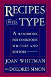 Recipes into Type, Joan Whitman and Dolores Simon, 0062700340