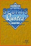 Sports Quotes, Joe Klein, 1570280355