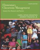 Elementary Classroom Management : Lessons from Research and Practice, Weinstein, Carol Simon and Mignano, Andrew, Jr., 0073010367