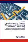 Development of Citation Measures in an Emerging Scientific Community, Ali Rashidi, 3659140376