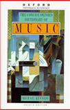 The Concise Oxford Dictionary of Music, , 019280037X