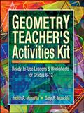 Geometry Teacher's Activities Kit, Judith Muschla and Gary Robert Muschla, 0130600385