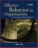 Effective Behavior in Organizations (REP) with PowerWeb, Cohen, Allan R. and Fink, Stephen L., 0072880392