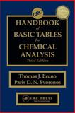 Basic Tables for Chemical Analysis, Bruno, Thomas J. and Svoronos, Paris D. N., 1420080423