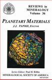 Planetary Materials, Papike, J. J., 0939950464