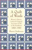 A Quilt of Words, Sharon Niederman, 1555660479
