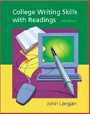 College Writing Skills with Readings, Langan, John, 0072460474