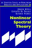 Nonlinear Spectral Theory, Appell, Jürgen and De Pascale, Espedito, 3119160474