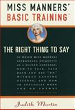 Miss Manners' Basic Training, Judith Martin, 0609600516
