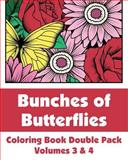 Bunches of Butterflies Coloring Book Double Pack (Volumes 3 And 4), Various, 149298051X